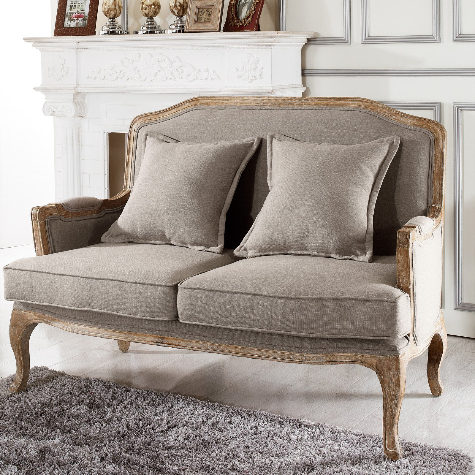 Constanza Classic Antiqued French Loveseat
