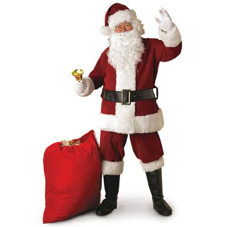 Rubies Costume Adult Mens Crimson Regal Santa Claus Suit | XX-Large