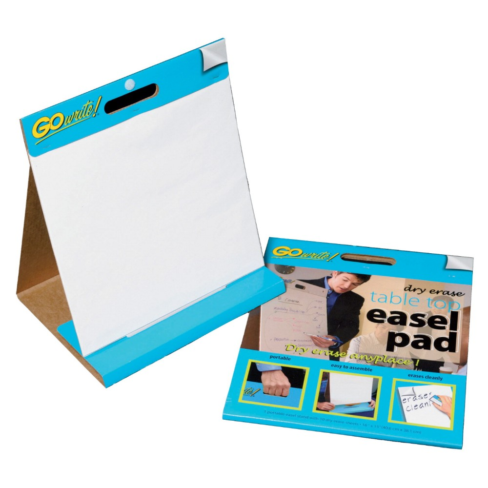 Go Write Dry Erase Tabletop Non-Adhesive Easel Pad - 16 x 15 In., White