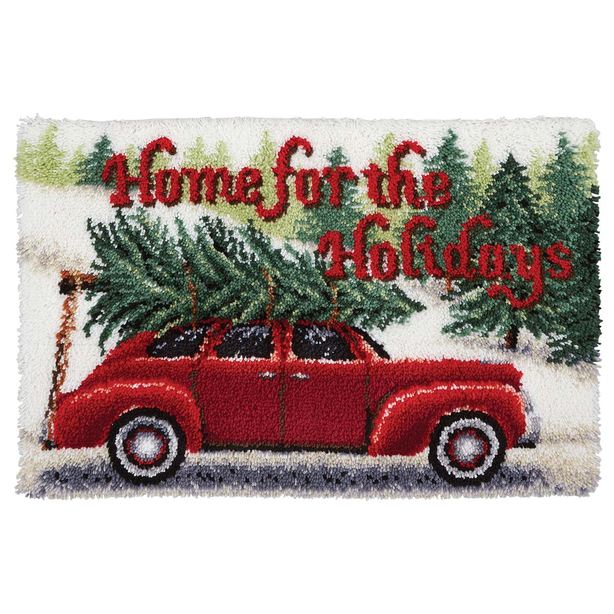 Herrschners® Home for the Holidays Latch Hook Kit