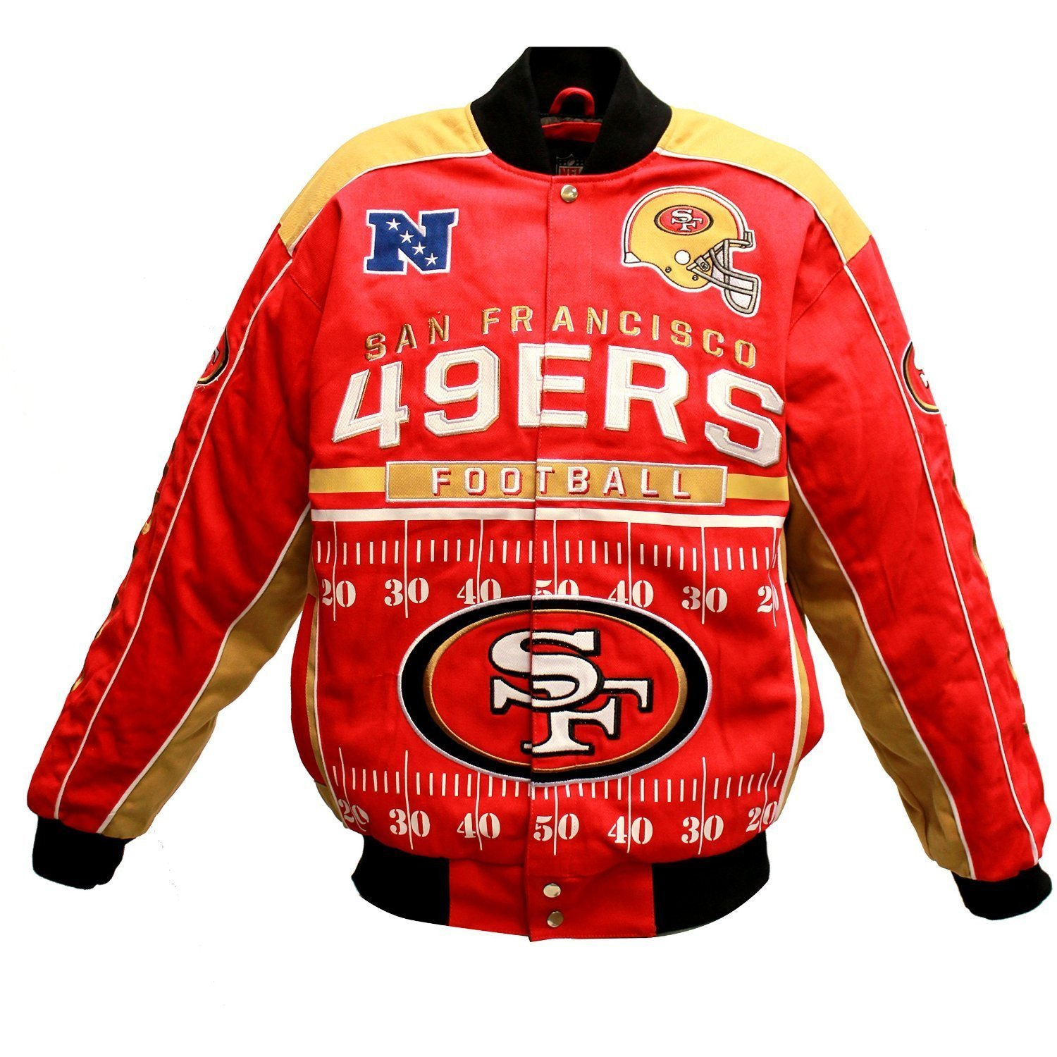 San Francisco 49ers Blitz Cotton Twill Jacket by G-III Sports