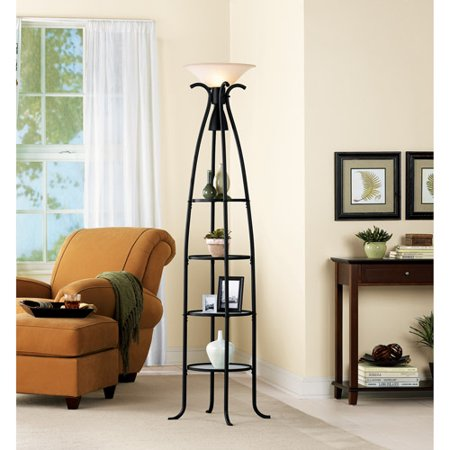 deluxe etagere floor lamp. Black Bedroom Furniture Sets. Home Design Ideas