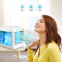 Peroptimist Portable Air Conditioner Fan, Personal Space Cooler, Personal Air Conditioner, AC,Cooling,Humidifier,3 Fan Speeds,Portable for Bedroom, Office, Outdoor