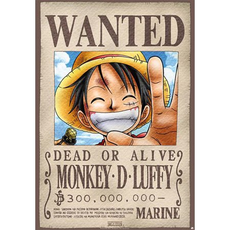 5d673add1 One Piece - Manga / Anime TV Show Poster / Print (Wanted: Monkey D. Luffy)  (Size: 27