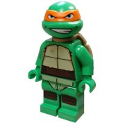 LEGO Teenage Mutant Ninja Turtles Michelangelo Minifigure [Gritted Teeth] [No Packaging]