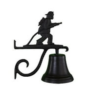 Montague Metal Products CB-1-91-SB Cast Bell With Satin Black Fireman Weathervane Ornament