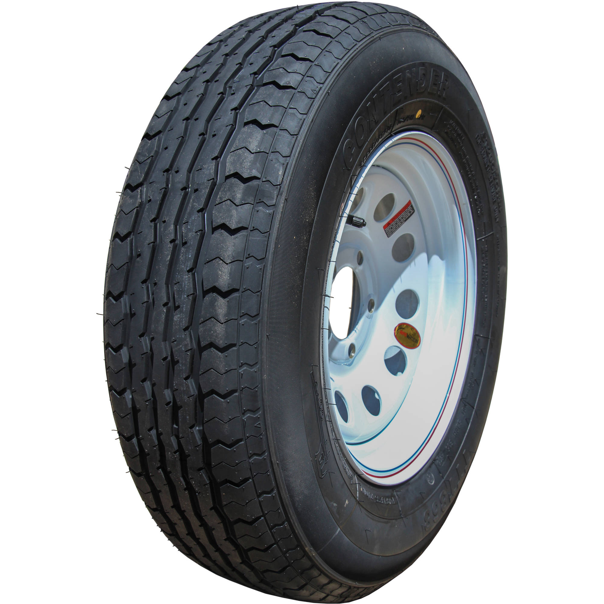 CONTENDER ST205 75R14, Load Range C, Trailer Tire (Tire Only) by Taskmaster