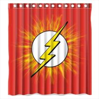 Product Image DEYOU The Flash Logo Shower Curtain Polyester Fabric Bathroom Size 66x72 Inches