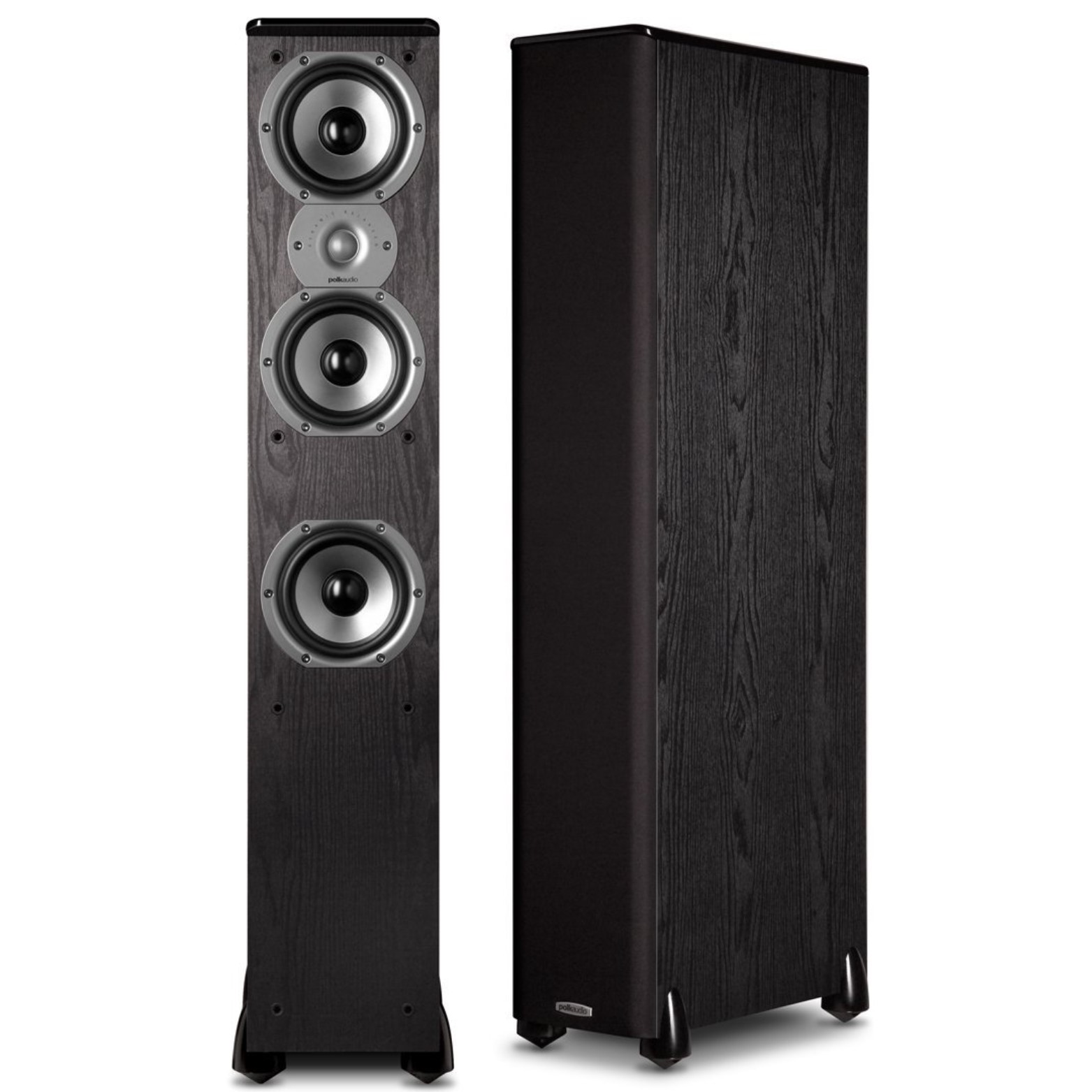 "Polk Audio TSi400 4-Way Tower Speakers with Three 5-1 4"" Drivers Pair (Black) by Polk Audio"