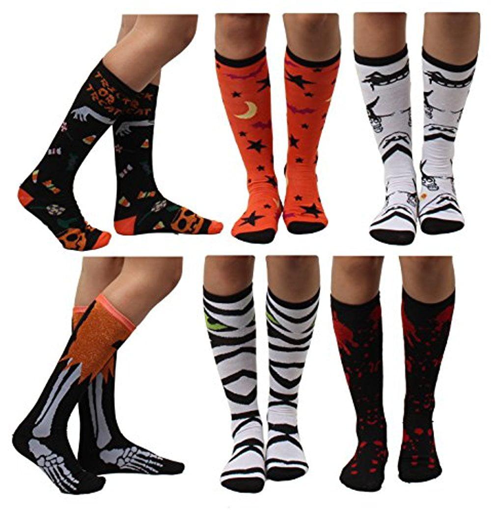 S-8 Halloween Sock Over The Knee sock Size 4-10 Cute