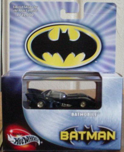 1989 BATMOBILE Hot Wheels 100% Batman Batmobile Limited Edition 1:64 Scale Collectible Die Cast Car by Mattel