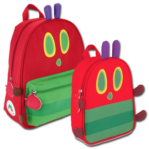 Caterpillar Picture Zipped Red,Round Very Hungry Caterpillar Purse
