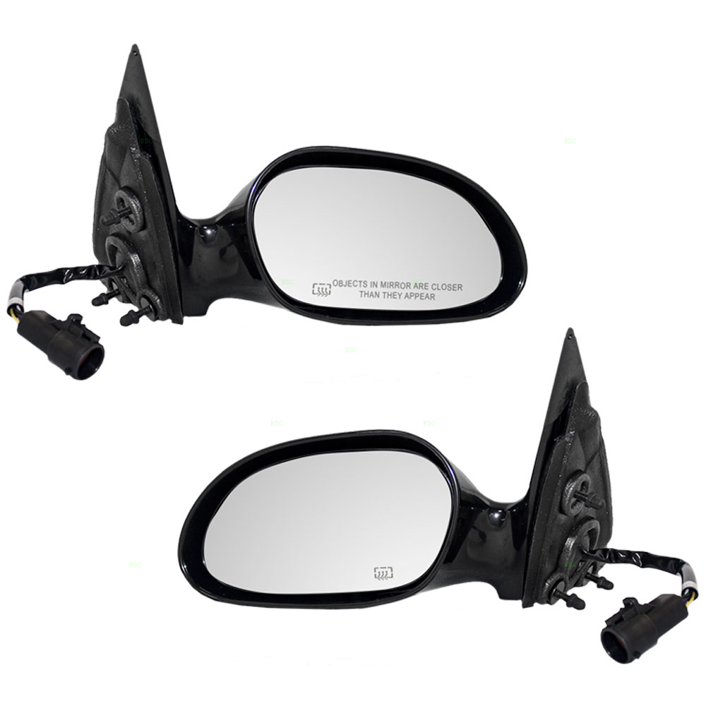 Driver and Passenger Power Side View Mirrors Heated Smooth Replacement for Ford Taurus Mercury Sable... by Brock