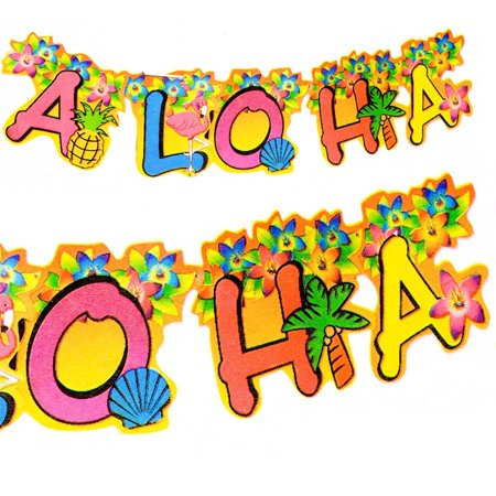 Aloha Banner (1 X Aloha Jointed Banner, Includes one package of 1. By Fun Express)