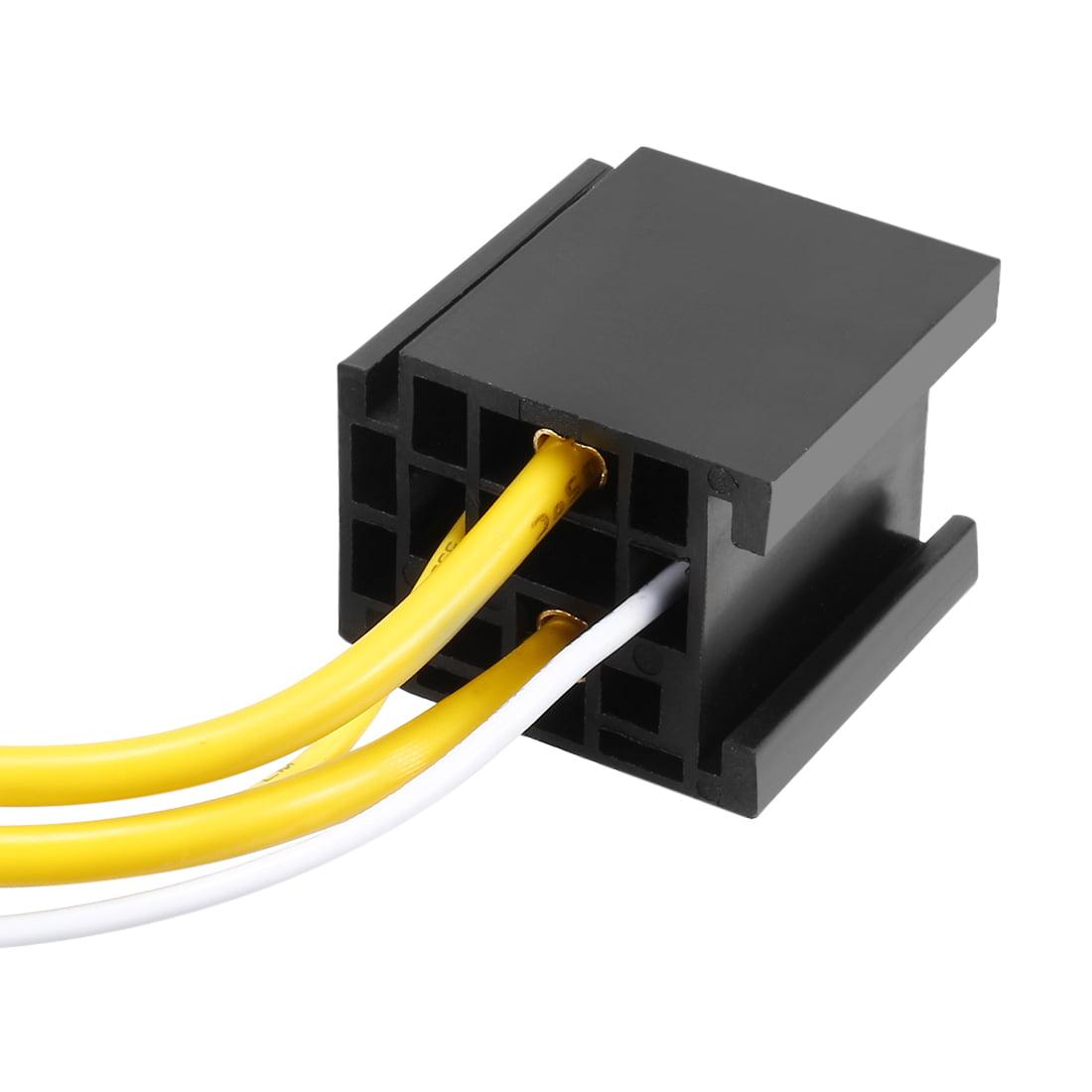 Unique Bargains 5 pcs DC 12V/24V 80A 4 Terminals Relay Socket Harness Connector for Auto Car - image 3 de 5