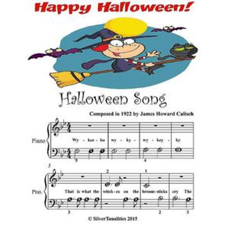 Halloween Song - Beginner Tots Piano Sheet Music - eBook