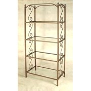 French Curl Etagere (Aged Iron)