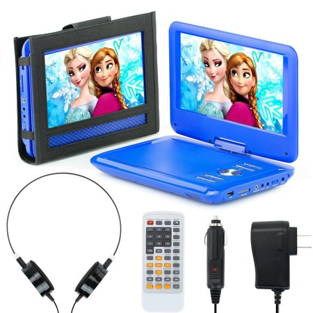 6 Player - Portable DVD Player for Car, Plane & more - 7 Car & Travel Accessories Included ($35 Value) - 9