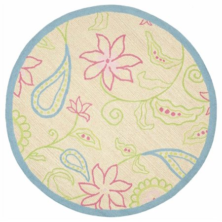 Kids novelty round rug 6 ft for Round rugs for kids