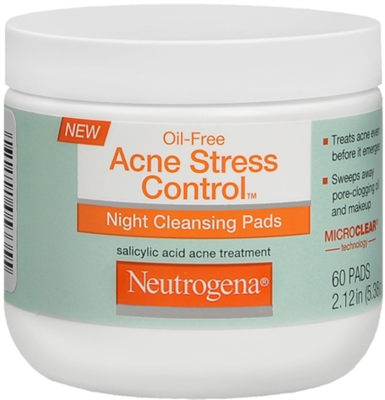 Neutrogena Acne Stress Control Night Cleansing Pads 60 Each (Pack of 2)