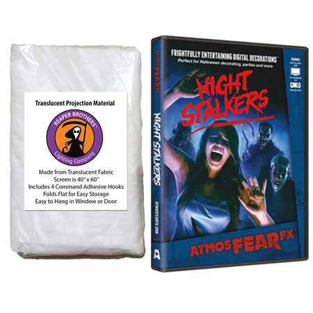 Halloween Digital Decoration DVD and Screen Kit includes AtmosfearFX Night Stalkers DVD + Reaper Bros 60