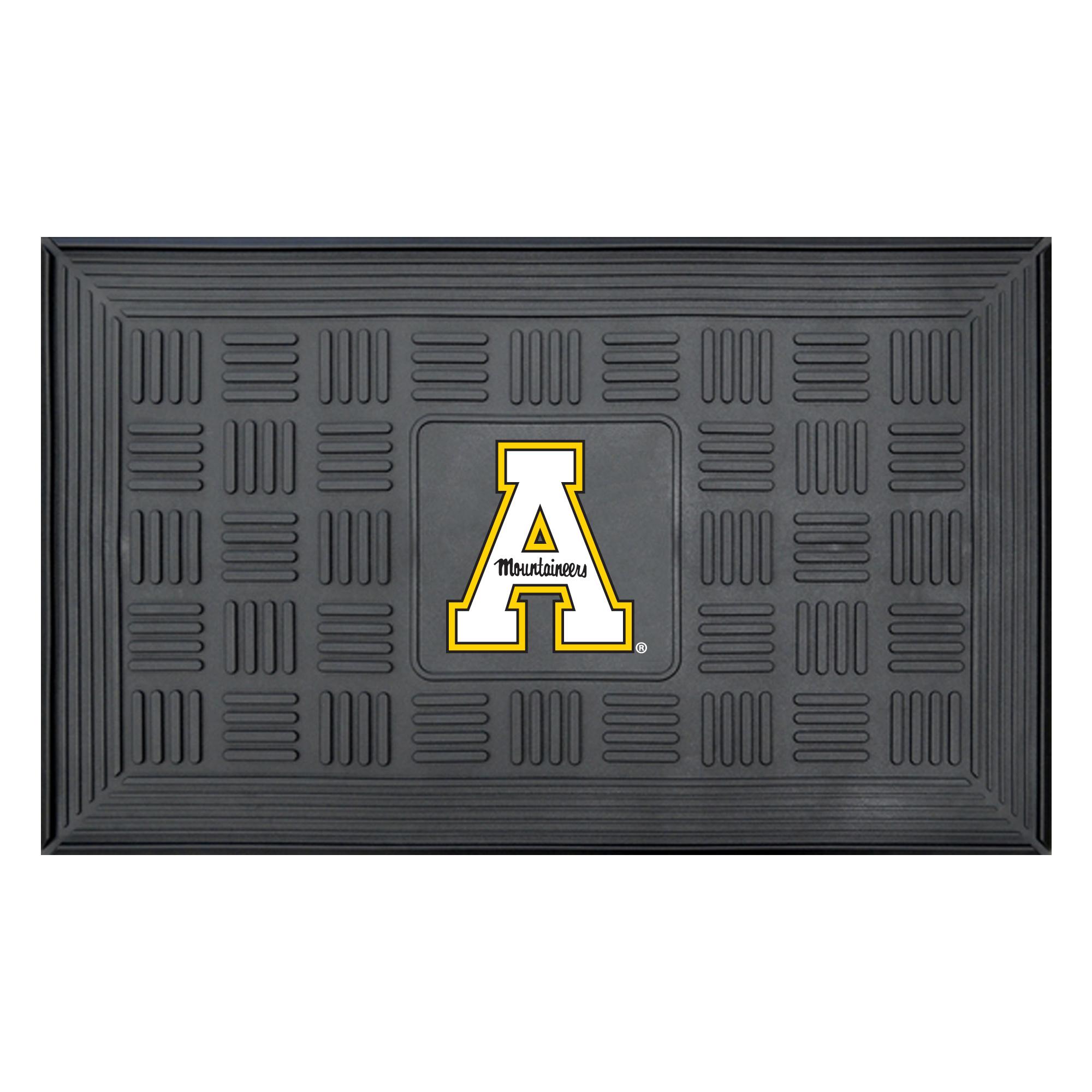 12438 Fanmats College NCAA Appalachian State 19.5 Inch x 31.25 Inch durable vinyl 3-D molded team logo Medallion Door Mat