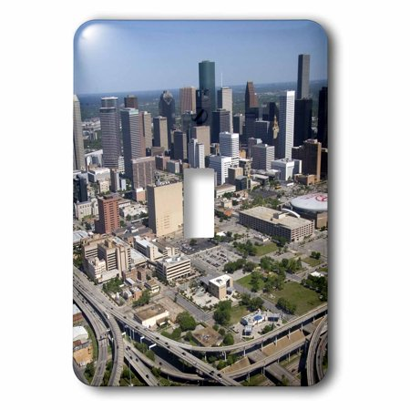 3dRose Interstate 45, US Highway 59, Houston, Texas - US44 DFR0170 - David R. Frazier, 2 Plug Outlet Cover (Outlet Houston)
