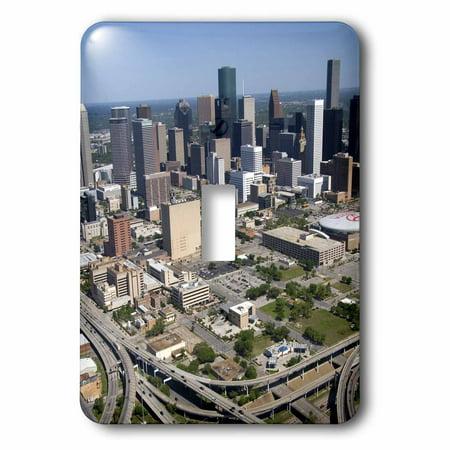 3dRose Interstate 45, US Highway 59, Houston, Texas - US44 DFR0170 - David R. Frazier - Single Toggle Switch (Texas Single)