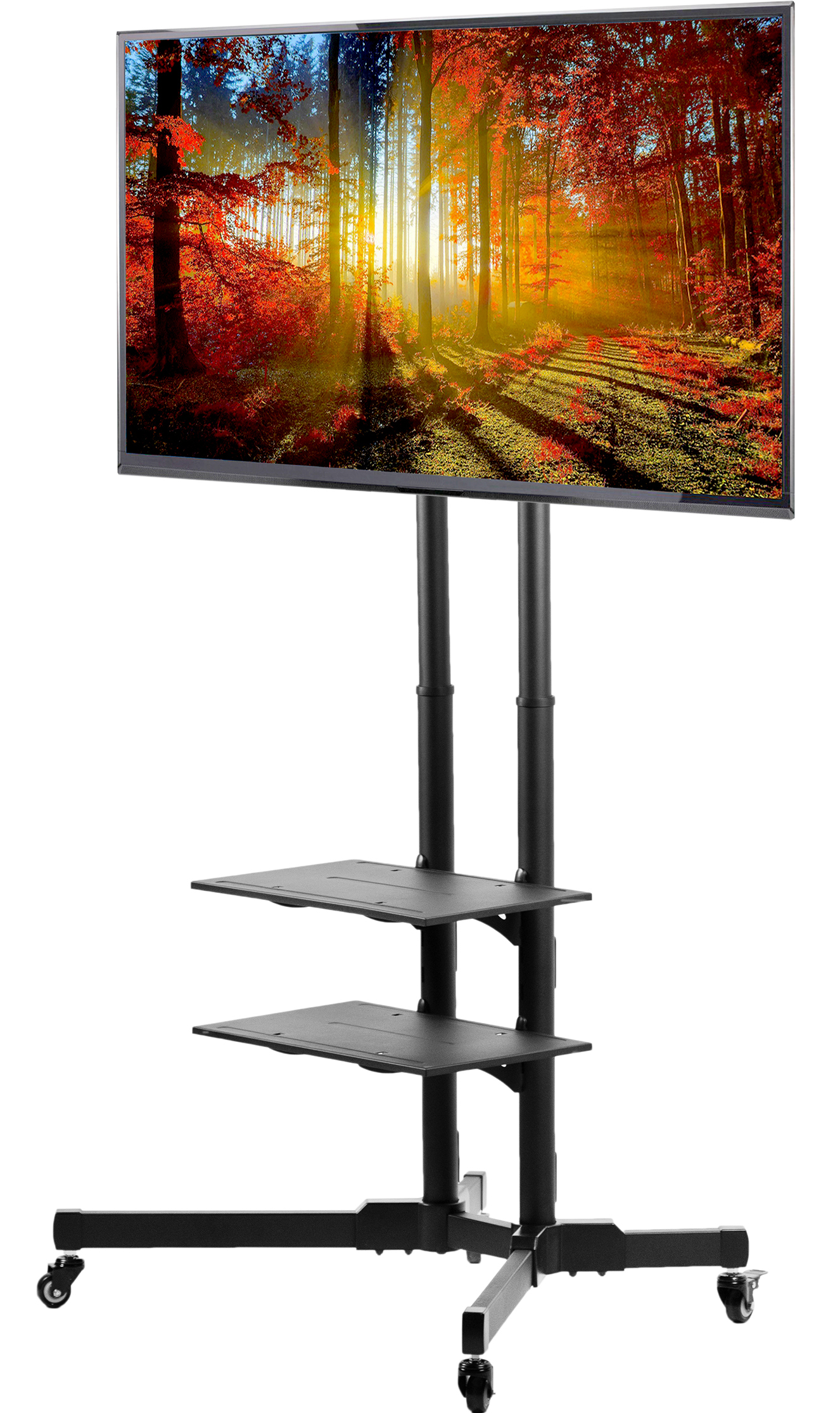"VIVO Mobile TV Cart for 37"" to 70"" LCD LED Plasma Flat Panel Screens 
