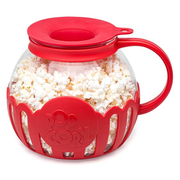 Ecolution Original Microwave Micro Pop Popcorn Popper Borosilicate