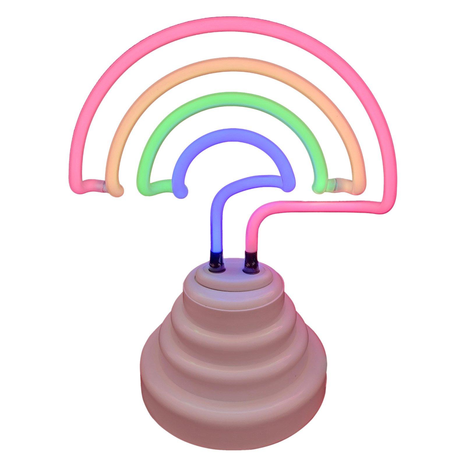 Battery-Operated Rainbow Neon
