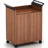 Lorell, LLR59653, Laminate Mobile Storage Cabinet, 1 Each, Walnut