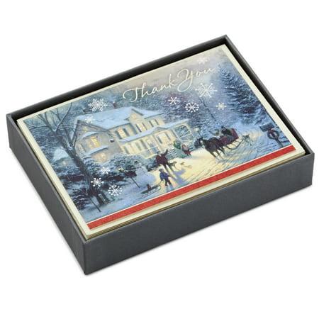 Hallmark Thomas Kinkade Holiday Thank You Cards (10 Cards with - Frozen Thank You