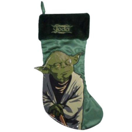 Star Wars Green Yoda Christmas Stocking Satin & Fur Holiday Decor (Stocking Stars)
