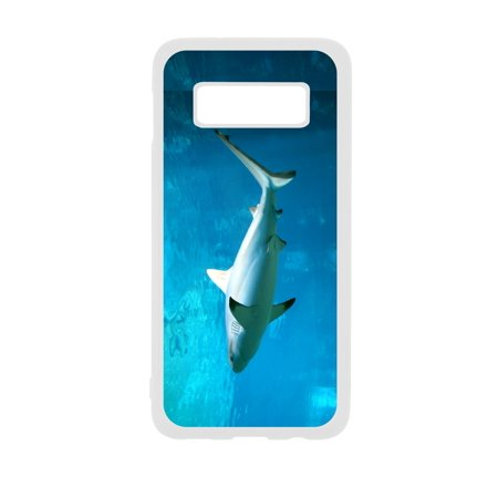 Reef - Tipped Shark Design White Rubber Case Cover for The Samsung Galaxy s10e (s10 Edge) - Samsung Galaxy s10e Accessories - Samsung Galaxy s10e Case
