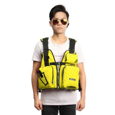 Universal Adult Breathable Fishing Safety Life Jacket Kayak Life Vest Nylon EPE Adjustable Swimming Sailing Boating Drifting Kayak Floating with Multi-Pockets & Reflective Stri - image 3 of 8