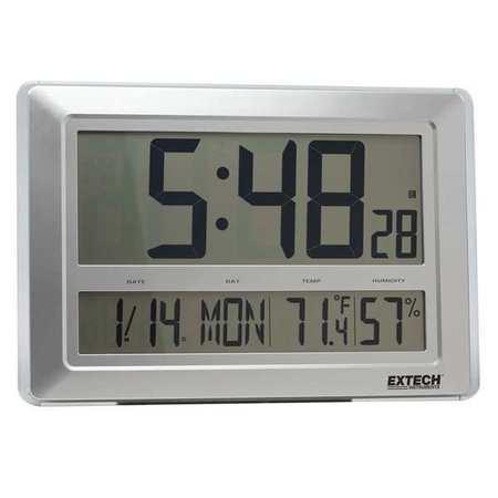Clock Digital Hygrometer,23 to 122 F EXTECH CTH10