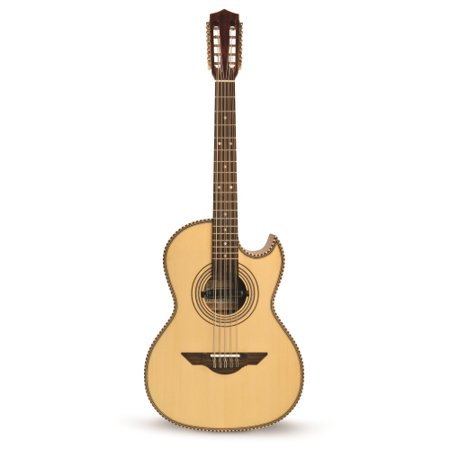 H. Jimenez Bajo Quinto (El Estandar)  solid spruce top with gig bag - FULL body - NO MICAS - with Seymour Duncan pickup,