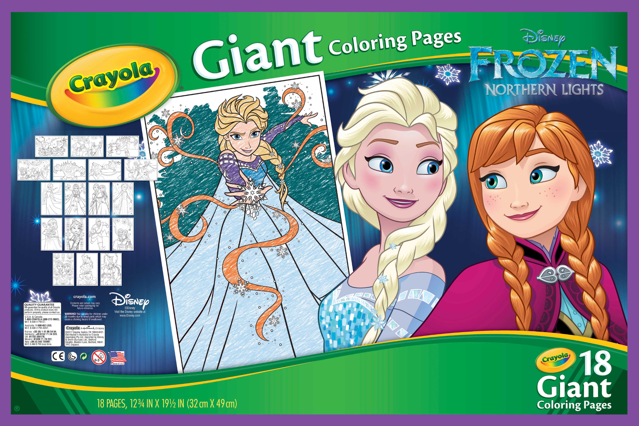 Crayola giant coloring pages featuring disneys frozen 18 pages