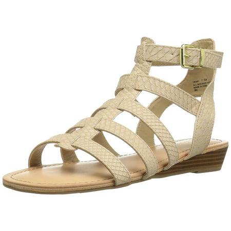 Madden Girl Women's Trary Gladiator Sandal, Nude Paris, Size 7.0 - Girls Gladiator Sandals