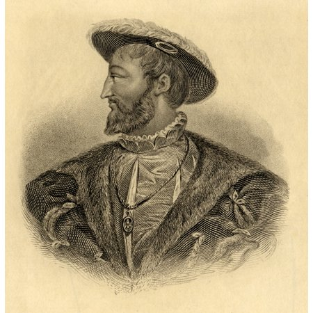 Francis I Aka Francis Dangouleme (1494- 1547) King Of France (1515-47) The First Of Five Monarchs Of The Angouleme Branch Of The House Of Valois Steel Engraving From An Old Portrait From The Book  Lad ()