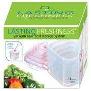 Lasting Freshness Vacuum Seal Food Storage System Set Square 11pc