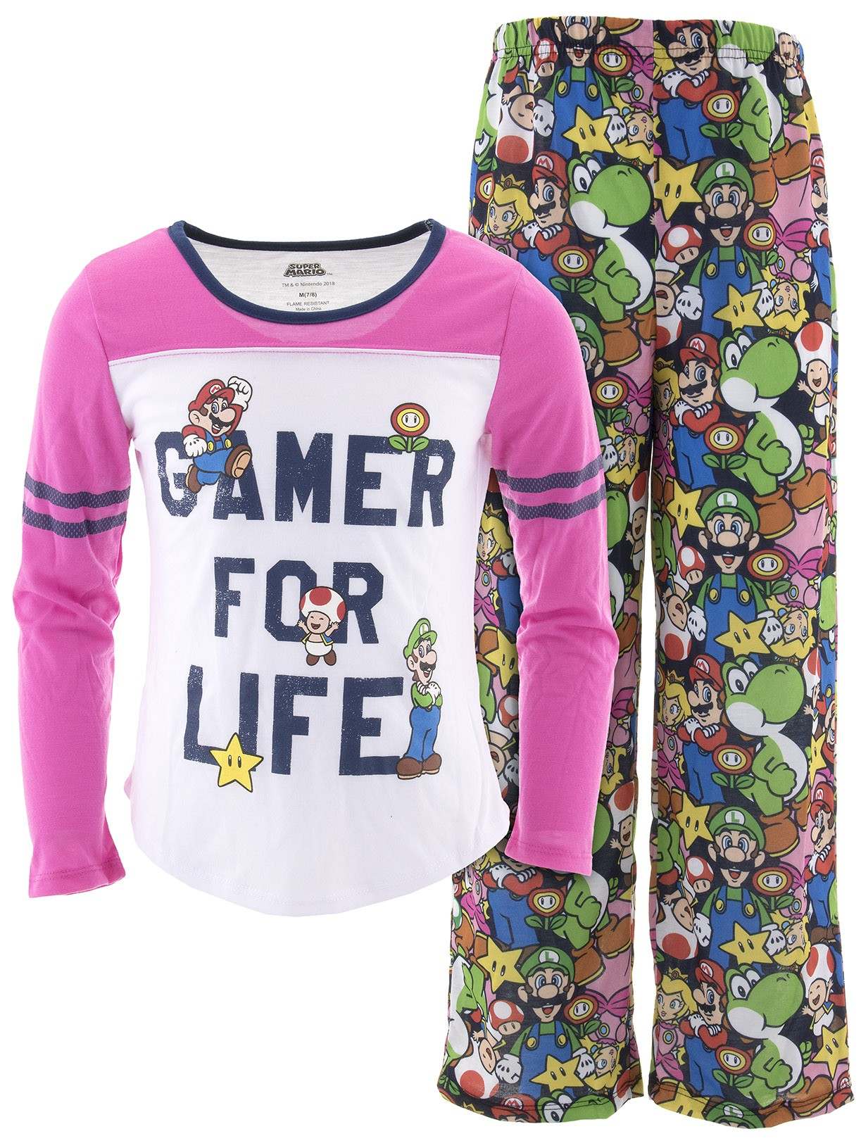 Super Mario Girls Gamer For Life Pajamas