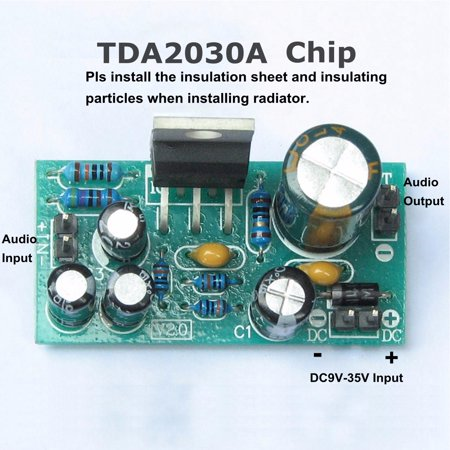 DIY Parts TDA2030A Electronic Mono Audio Audio Amplifiers Power Sound Amplifier Board 18W DC 9V-24V