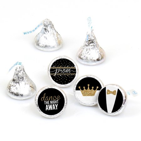 Prom - Round Candy Prom Night Sticker Favors - Party Decorations - Labels Fit Hershey's Kisses (1 sheet of 108) (Diy Prom Decorations)