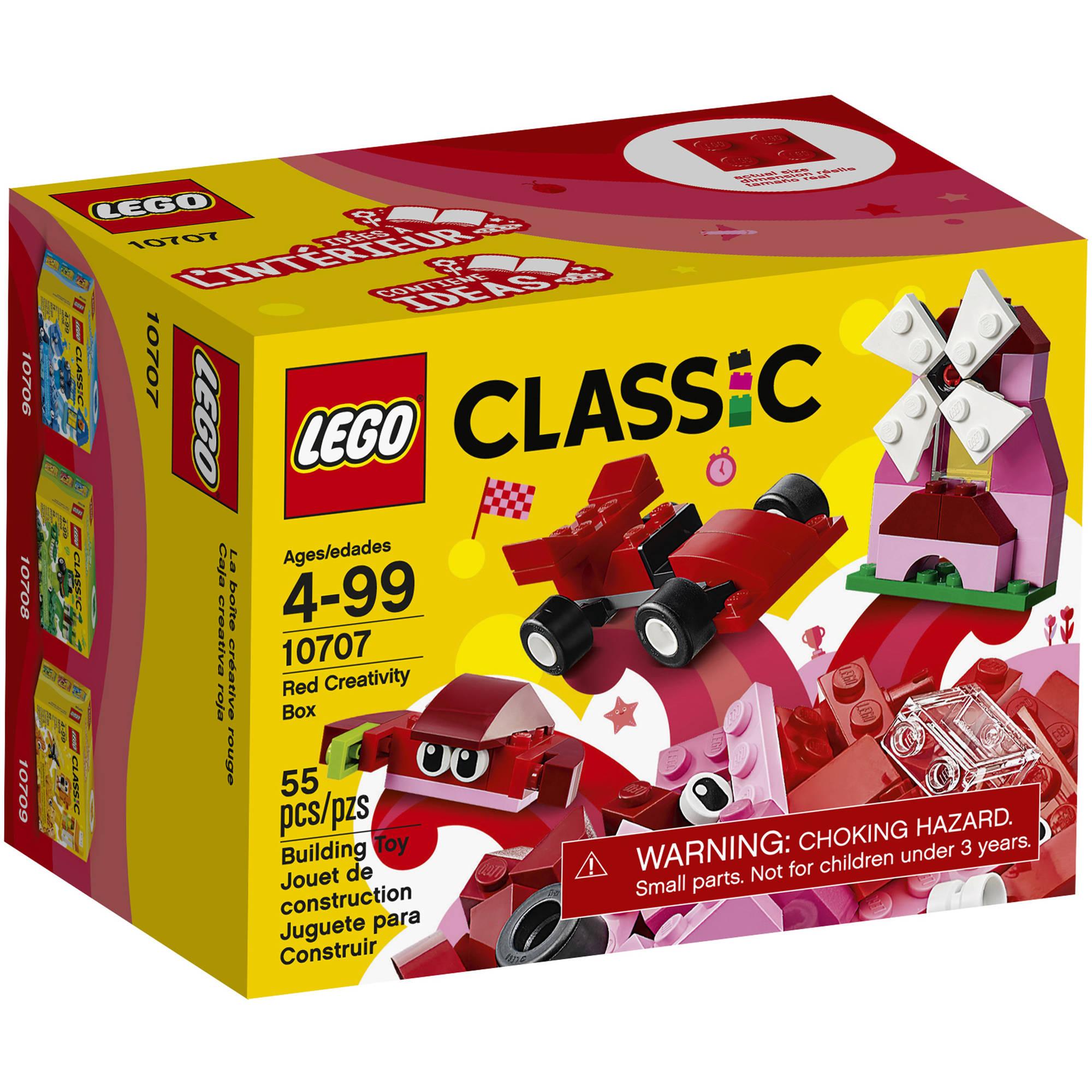LEGO Classic Creativity Box, Red 10707 (55 Pieces)