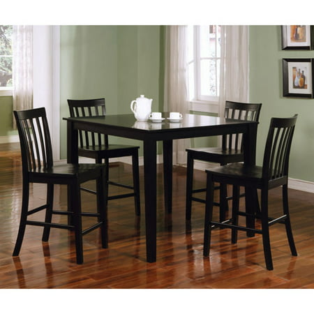 Coaster Company Ashland 5pc Counter Height Dinette, Black