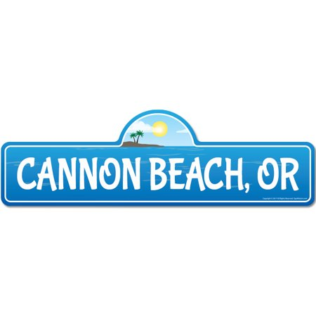 Cannon, OR Oregon Beach Street Sign   Indoor/Outdoor   Surfer, Ocean Lover, Décor For Beach House, Garages, Living Rooms, Bedroom   Signmission Personalized Gift - Halloween Cannon Beach