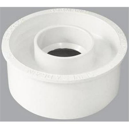 - GENOVA Adapter Bushing, PVC, 4 in. x 1-1/2 in. 40241