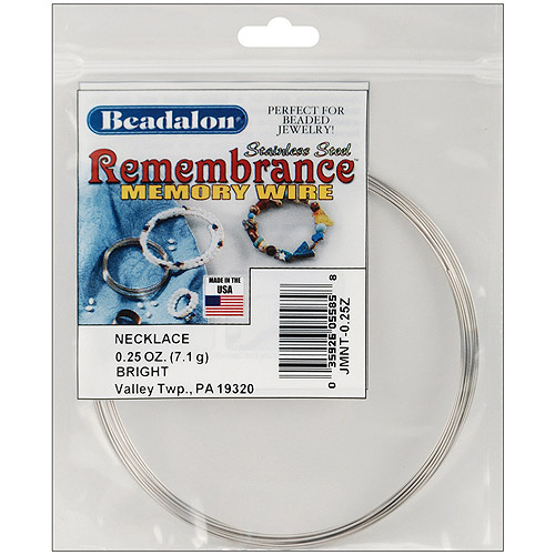 Beadalon Remembrance Memory Wire Necklace, 9 Loops